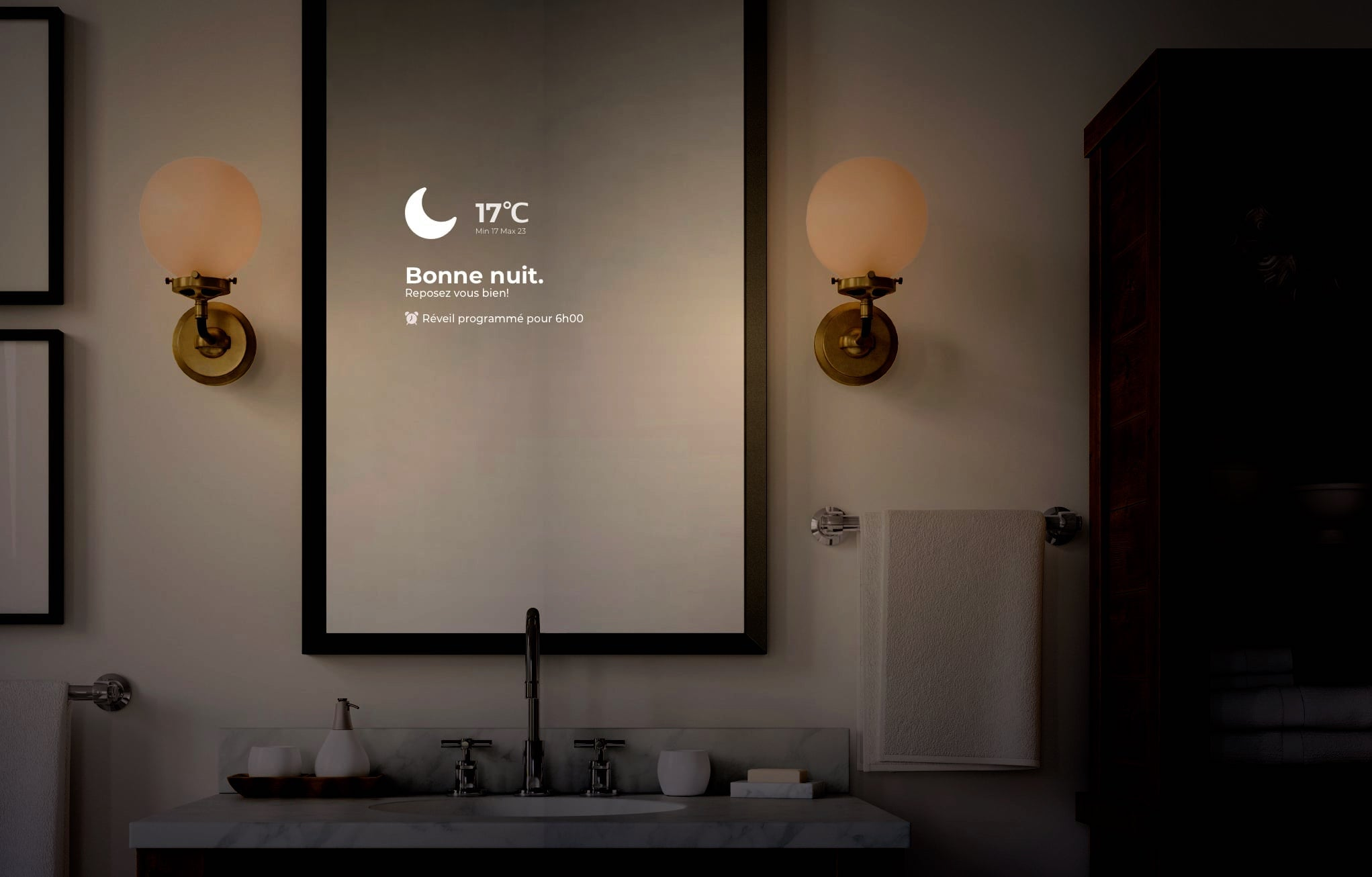 Smart Mirror at Night