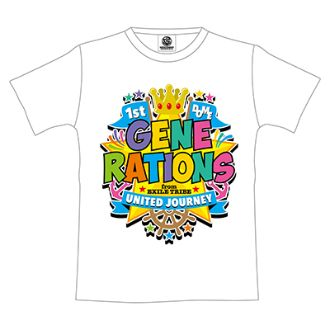 GENERATIONS UNITED JOURNEY ライブグッズ 1st DOME TOUR Tシャツ(WHITE)