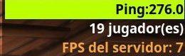 ping 276, 19 jugadores, fps del servidor 7
