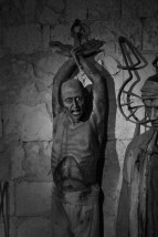 One of the terrifying waxworks at the Mdina Dungeon Museums