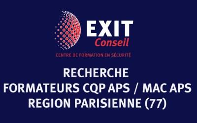 Offre d'emploi : Exit Conseil recherche des formateurs CQP APS et MAC APS
