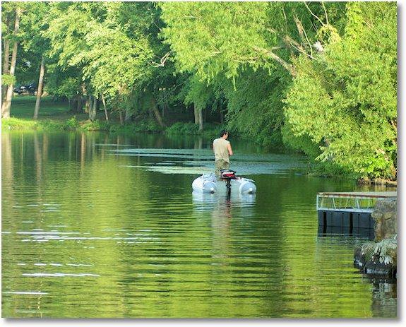 fisherman on lake bailey petit jean state park