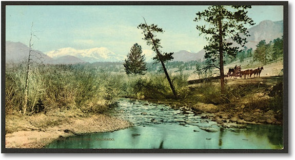 Upsilon Peak, Estes' Park, Colorado, Library of Congress Photochrom Print Collection