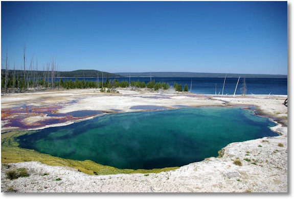 abyss pool, west thumb geyser basin, yellowstone national park, wyoming