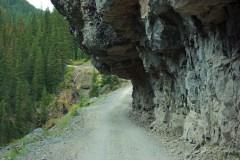 Camp Bird Road overhang