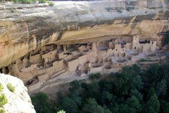 Cliff Palace, cliff dwelling at Mesa Verde National Park