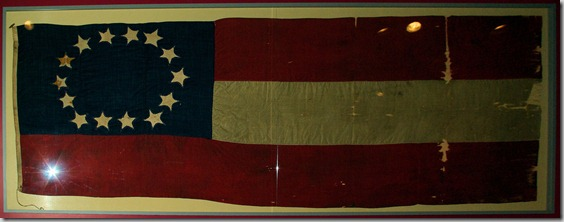 flag of the CSS Alabama, The Mariners Museum, Newport News, Virginia, May 10, 2009