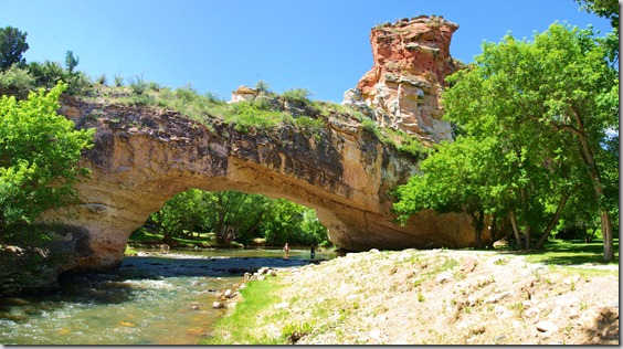 Ayres Natural Bridge Park is a county park in Converse County, Wyoming