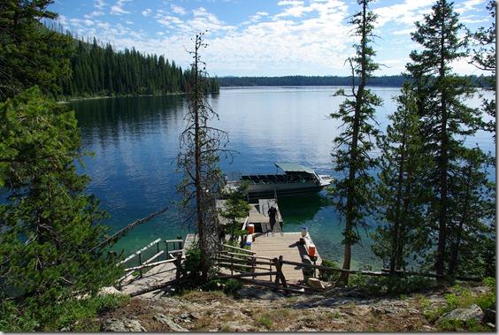 "passenger ""ferry"" on Jenny Lake, Grand Teton National park."