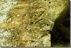Indian Cave State Park, Nebraska, petroglyph-a