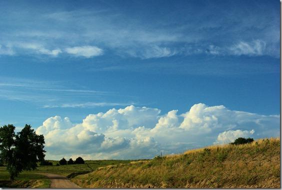 Clouds over the sandhills of western Nebraska