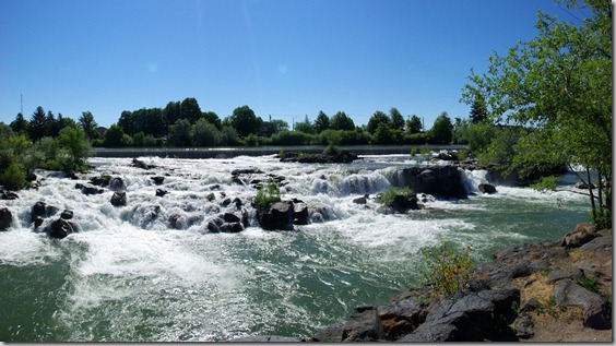 Snake river falls in  Idaho Falls,  Idaho