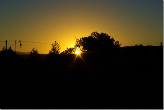 sunset, Arco, Idaho, July 23, 2010