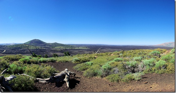 view from Inferno Cone, a cinder cone at Craters of the Moon National Monument, Idah