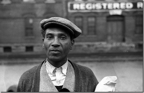"""Eyes of the Great Depression 045, """"Negro waiting for freight train to leave Dubuque, Iowa"""",  Library of Congress"""