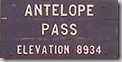 Antelope Valley to Antelope Pass