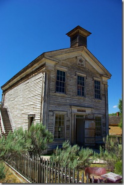Masonic Lodge and School House, Bannack State Park, Montana