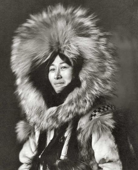 Eskimo woman posing - c. 1915; Frank and Frances Carpenter Collection — Lib. of Congress Prints and Photographs Division