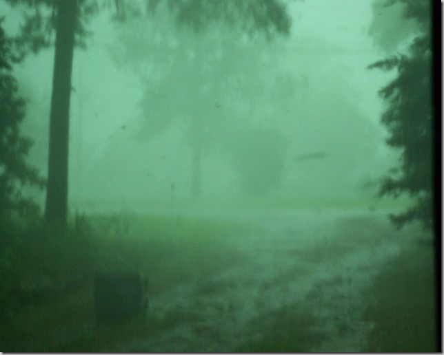 torrential rain, june 2009