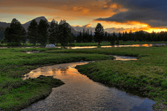 Budd Creek Sunset, Tuolumne Meadow, Yosemite National Park