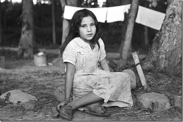 Indian girl, daughter of blueberry picker, near Little Fork, Minnesota