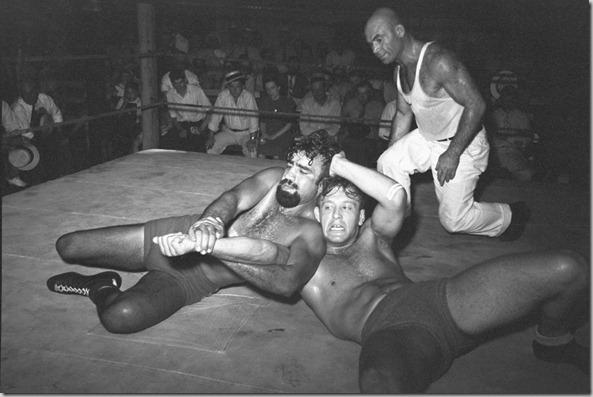 Wrestling match sponsored by American Legion, Sikeston, Missouri