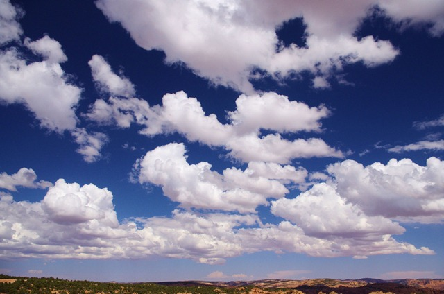 Clouds, Navajo National Monument, Arizona, October 1, 2011