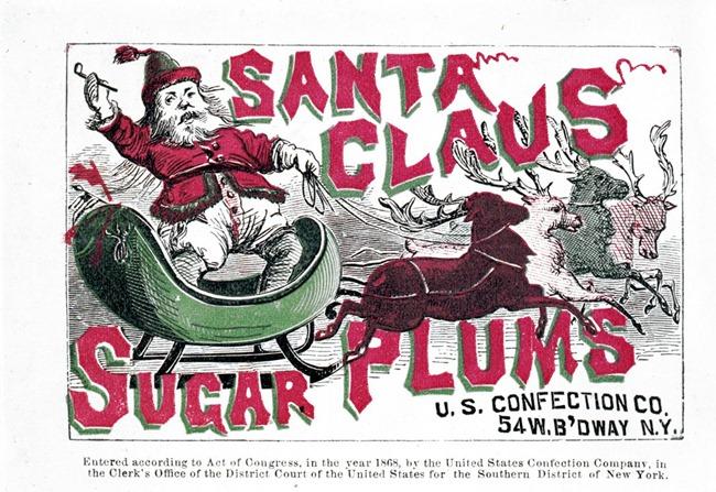 Santa Claus sugar plums