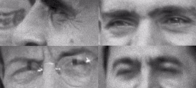 A group of steelworkers discussing politics, Aliquippa, Pennsylvania - eyes