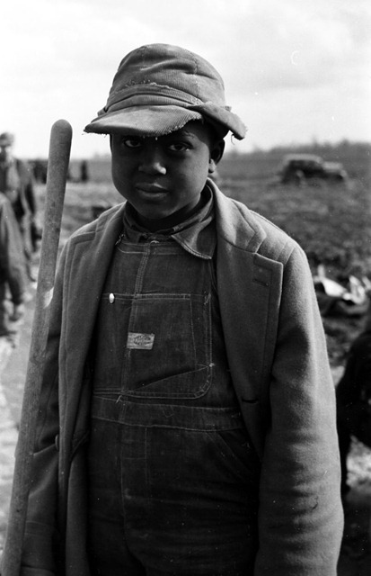 Evicted sharecropper boy, New Madrid County, Missouri; photo by Arthur Rothstein