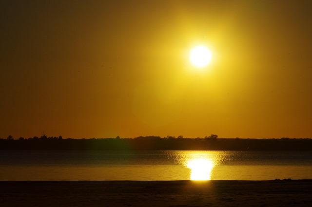 Setting Sun, Sandy Cove, Canton Lake, Oklahoma, September 5, 2011