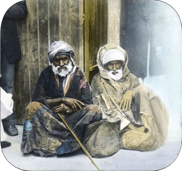 Beggars, Alexandria, Egypt - Taken some time in 1900