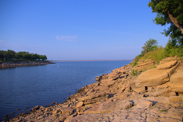Kaw Lake from Osage Cove Campground, August 3, 2014