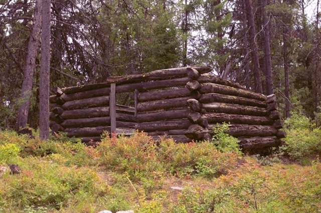 1890s stage stop cabin near Garnet, Montana, August 22, 2014