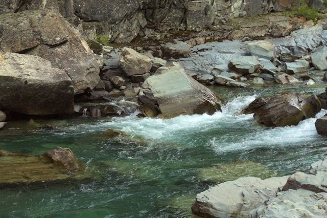 McDonald Creek, Going to the Sun Road, Glacier National Park, Montana, August 26, 2014