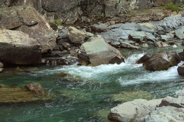 McDonald Creek, Going to the Sun Road, Glacier National Park, Montana, August 26, 2014