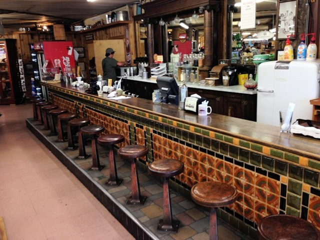 Eagle's Store soda fountain, West Yellowstone, Montana, August 20, 2014
