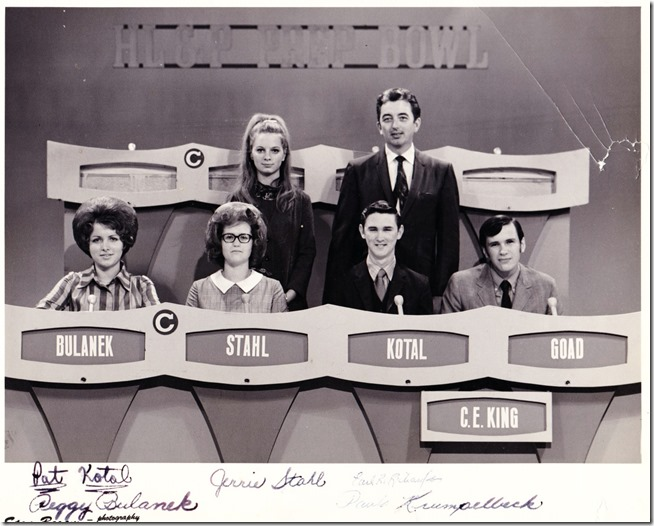 Houston Light and Power Prep Bowl, CE King Contestants, 1969-70 school year