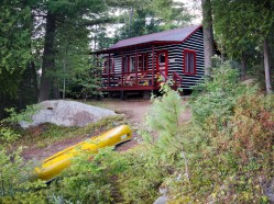 Killarney Lodge cabin and Canoe; Lake of Two Rivers, Algonquin Provincial Park