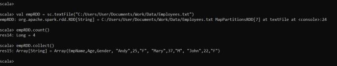Create RDD in Scala