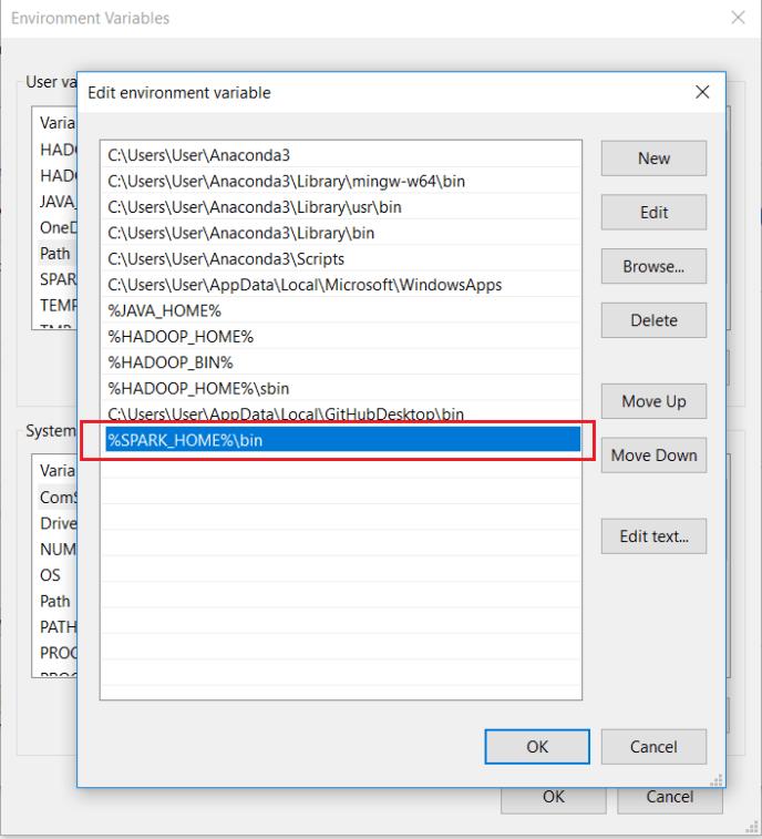 Install Apache Spark - Add Spark to PATH variable