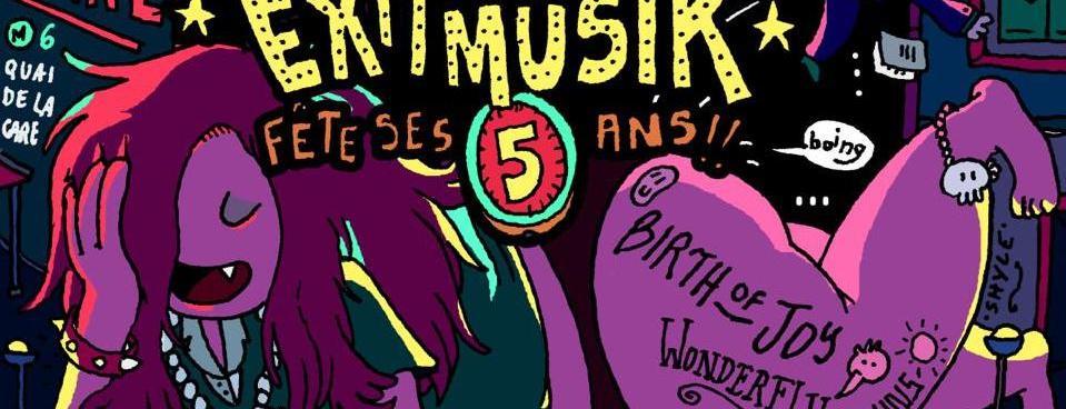 5 ans d'Exit Musik – Birth Of Joy, Wonderflu, The Blind Suns le 10 novembre au Petit Bain !
