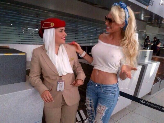 Vicky Xipolitakis en Ezeiza | Foto: Héctor Rossi