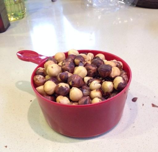 2 cups of hazelnuts