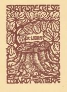 Alberto Zanverdiani. Ex libris para Edgardi Gamerrae.
