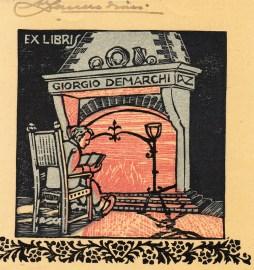 Alberto Zanverdiani. Ex libris para Giorgio Demarchi.