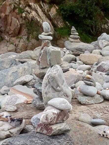Stone Balancing Heddon's Mouth