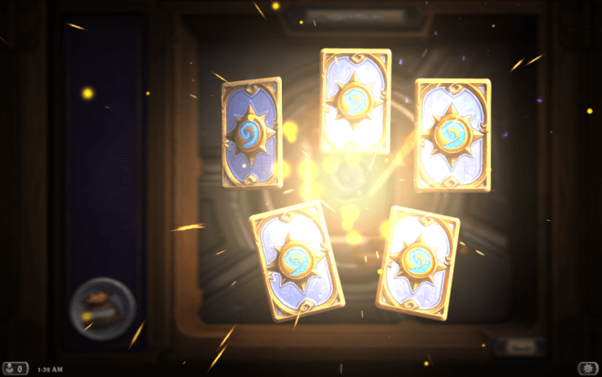 Admit it, you are just dying to know what these cards are. What if one of them is a legendary? Think of the voice macro that will play!
