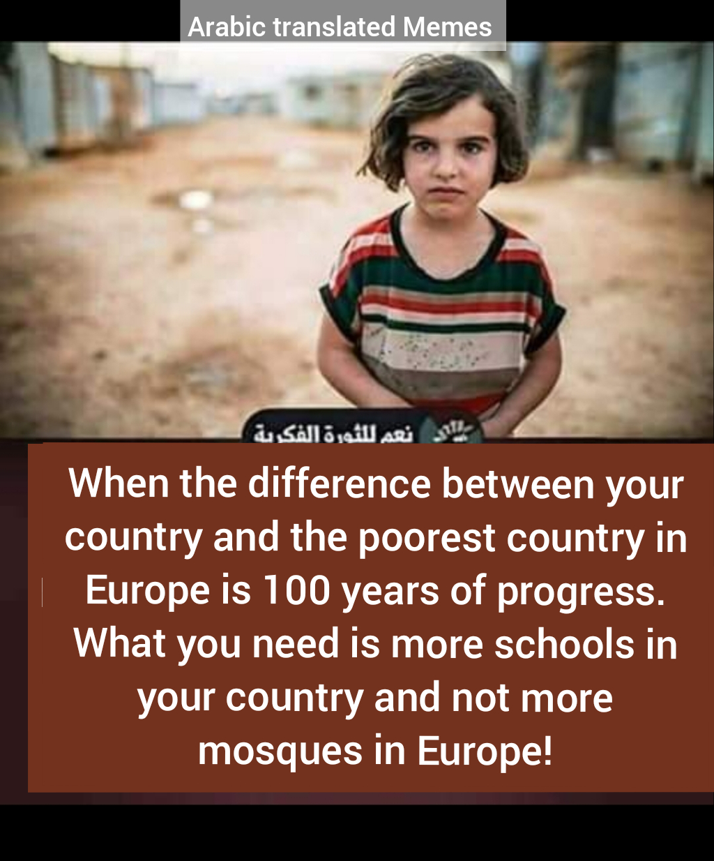 morality spending money mosques poverty Europe poor schools women education