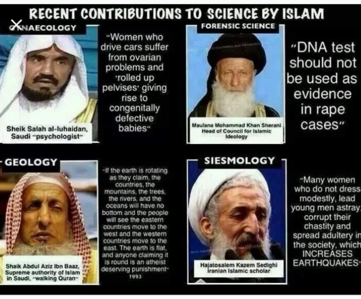 flat earth hadith scientific error science quran Sheikh Abdul-Aziz Ibn Baaz Saudi Arabia atheist punishment islamic science Salah Al-luhaidan psychology psychologist ideology DNA rape Iranian earthquakes seismology